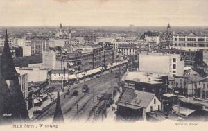 Aerial View of Main Street, Winnipeg, Manitoba, Canada, 1900-1910s