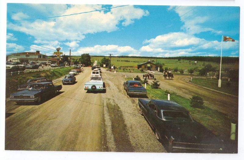Magnetic Hill New Brunswick Canada Chrome Postcard