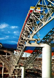 Japan Tokyo Expo '70 Ammusement Area Daidarasaurus Roller Coaster