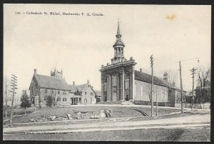 Cathedral St Michael Sherbrooke Quebec CANADA Unused c1910s