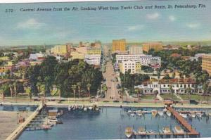 Florida St Petersburg Cetral Avenue From The Air Looking West From Yacht Club...