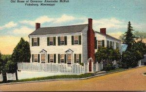 Mississippi Vicksburg Old Home Of Governor Alexander McNutt Curteich