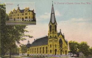 Church St Patrick's Church and School Green Bay Wisconsin 1914