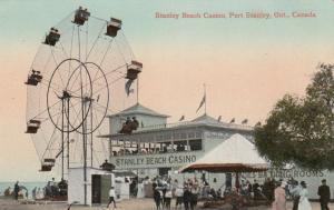 PORT STANLEY , Ontario , 00-10s Beach Casino & Ferris Wheel