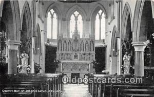 Churches Vintage Postcard Vintage Postcard Colwyn Bay St Joseph's Catholic Ch...