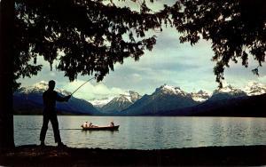 Montana Glacier National Park Fishing At Lake McDonald