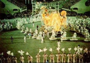Brazil Rio De Janiero Stadium At Night Carnival Parade