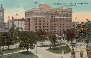 RICHMOND, Virginia, 1912; Hotel Richmond, Ninth & Grace Streets