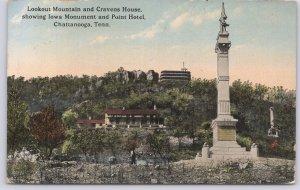 Chattanooga, Tenn., Lookout Mountain & Cravens House, Iowa Monument & Point-1915