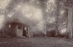 Surrey Unidentified Location Gypsy Romany Style Shelter Wood Real Photo Postcard