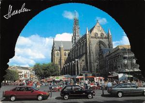Netherlands Haarlem St Bavo of Grote Kerk Church Terrace Vintage Cars Voitures