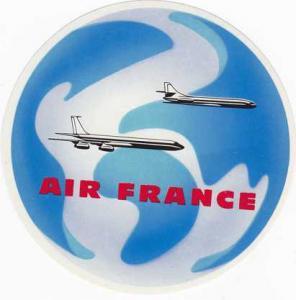 Air France Luggage Sticker - Aviation - Unused