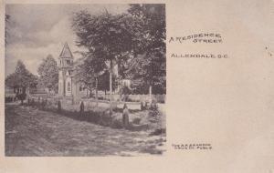 ALLENDALE , South Carolina, 1910 ; Residence Street