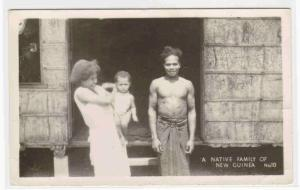 Native Family New Guinea real photo rppc postcard