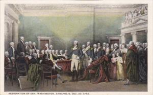 Resignation Of General Washington Annapolis 23 December 1783