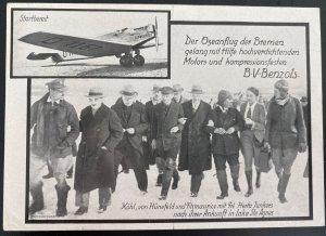 Mint PPC Germany Postcard Early Aviation Bremen Exhibition Junker