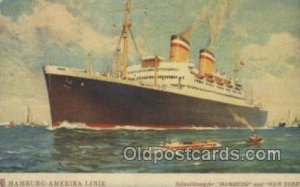 Hamburg Hamburg Amerika Line, Ship Ocean Liners 1938 light indentation in car...