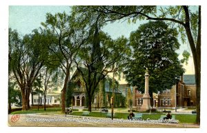MA - Greenfield. The Common, 2nd Congregational Church & Courthouse