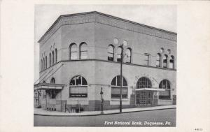 First National Bank , DUQUESNE , Pennsylvania , 00-10s
