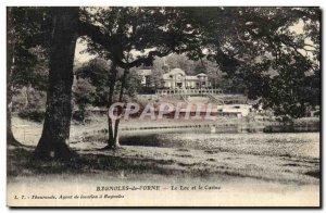 Old Postcard Bagnoles De L Orne Lake and Castno