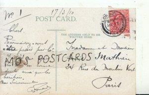 Genealogy Postcard - Louis Mathieu - 24 Rue Du Moulin Vert - Paris - Ref 9397A