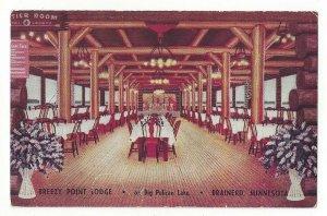 Postcard MN Breezy Point Lodge on Big Pelican Lake Brainerd Minnesota