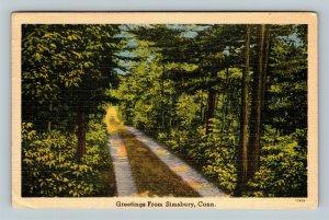 Scenic Greetings, Vintage Simsbury Connecticut Postcard