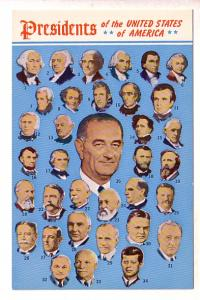 Collage of 35 Presidents, up to President Johnson