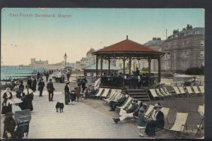 Sussex Postcard - East Parade Bandstand, Bognor   DC1217