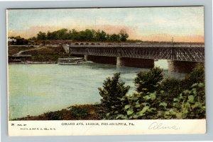 Philadelphia PA, Girard Ave. Bridge, Vintage Pennsylvania Postcard