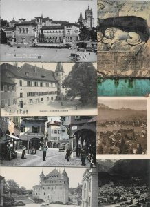 Switzerland Lausanne Luzern Internlake and more Lot of Postcards 40 01.11