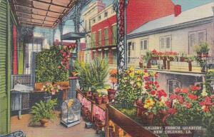 Louisiana New Orleans Gallery In French Quarter 1942 Curteich