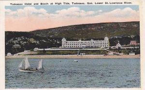 Tadousac Hotel and Beach at High Tide, Tadousac, Quebec, Canada,  00-10s