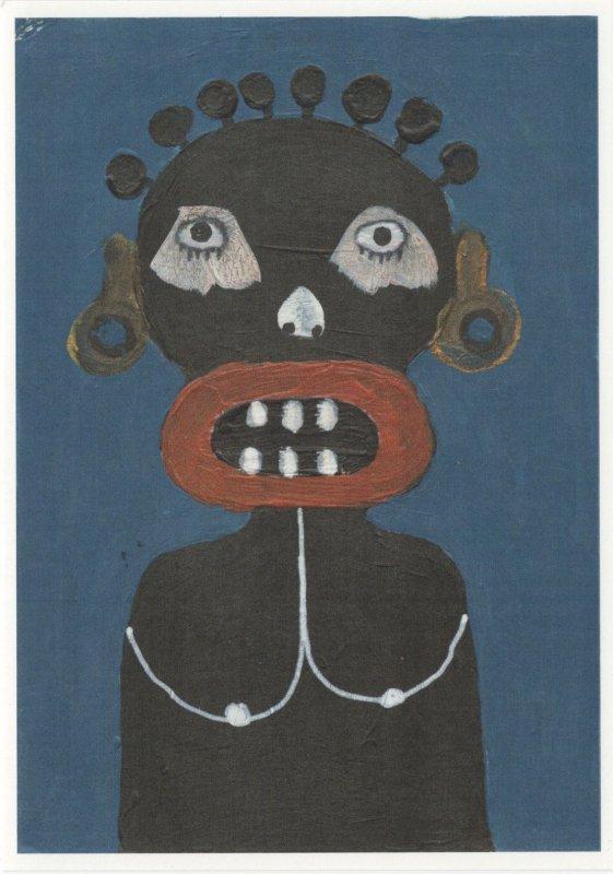 Kojo Marfo The Sun Mask Ghana Akan Art Award Painting Postcard