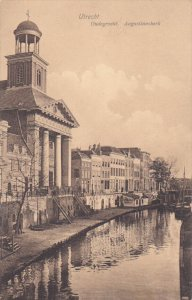 UTRECHT, Utrecht, Netherlands, 1900-1910's; Oudegracht, Aufustinuskerk