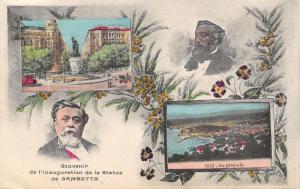 Nice France~Léon Gambetta Statue Inauguration Souvenir~Art Nouveau~1909 Postcard