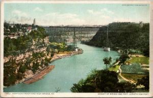 High Bridge Kentucky~Bridge Panorama Over River~Farms~Bluffs~c1910 Detroit Pub