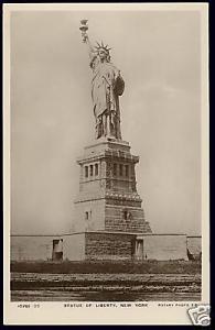 New York, Statue of Liberty (1920s) Rotary RPPC