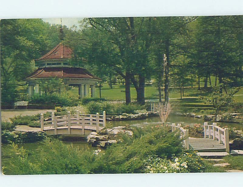 Pre-1980 SHERIDAN HOTEL GARDEN French Lake In Pierson By Terre Haute IN c1048-12
