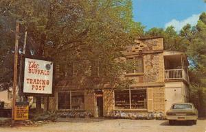 Jasper Arkansas Buffalo Trading Post Street View Vintage Postcard K90973