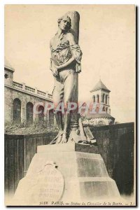 Old Postcard Paris Statue of Chevalier de la Barre