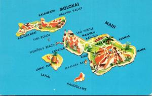 Hawaii Map Of The Maui The Valley Island