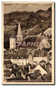 Old Postcard The Church Vermenton Au Fond Cote De Bertry