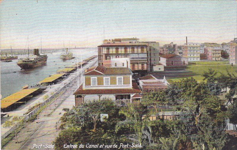 Port Said , Egypt , 00-10s ; Entree du Canal