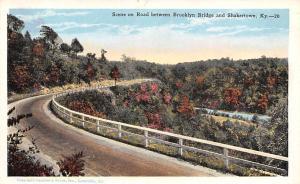 Shaker Postcards Old Vintage Antique Post Cards Road between Brooklyn Bridge ...