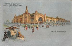 1904 World's Fair St Louis MO Palace of Transportation Postcard