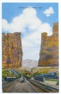 Linen of Rio Grande Train & Tracks at Castle Gate Utah UT
