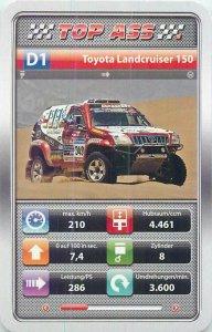 Auto revue off road car Top Ass 9x6cm trade card D1 TOYOTA LANDCRUISER 150