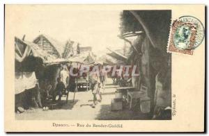 Old Postcard Djibouti Somalis Rue Bender Guedid TOP