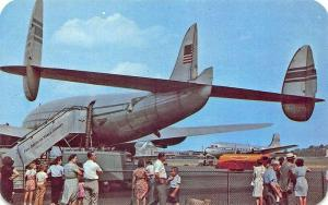 New York NY La Guardia Airport Pan American Prop-Airplane Postcard
